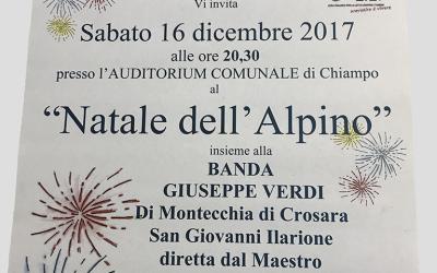Natale dell'Alpino Sabato 16 Dicembre 2017